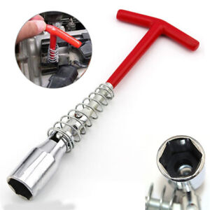 Flexible Spark Plug Removal Tool 16mm T-Bar Spanner Socket Wrench 4-16 For Car