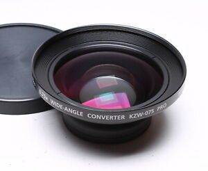 KENKO 0.75X WIDE-ANGLE CONVERTER KZW-075 PRO MADE IN JAPAN W/ CAPS 62mm thread
