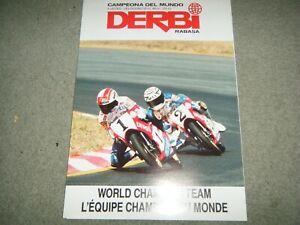 DERBI FDS DS-50 FDX VARIANT SPORT DS 50 MOTORCYCLE BROCHURE 1989