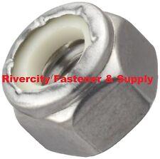 100 M10 15 Coarse Thread Nylon Insert Lock Stop Nut A4 Stainless Steel 10mm