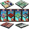 Mini Magnetic Travel Size Board Games Chess Ludo Checkers Snakes and Ladders