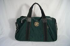 Vintage KIPLING Green and Black Large Nylon Zippered Duffle Bag
