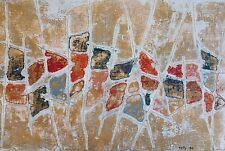 Robert TRELLU 1921-2014.Composition abstraite.Technique mixte.36x53.SBD.1998.