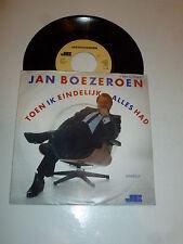 """JAN BOEZEROEN - Toen Ik Eindelijk Alles Had - 1985 Dutch 7"""" Juke Box Single"""
