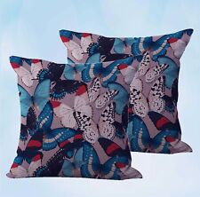 US Seller-set of 2 retro boho butterfly cushion cover decorative pillows