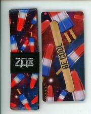 Medium ZOX Silver Strap BE COOL Wristband with Card Reversible