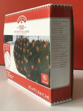HOLIDAY TIME 150-COUNT RED INCANDESCENT 6-FT x 4-FT NET LIGHTS WITH GREEN WIRE