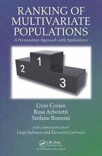 RANKING OF MULTIVARIATE POPULATIONS - CORAIN, LIVIO/ ARBORETTI, ROSA/ BONNINI, S