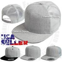 Trucker Hat Baseball Mesh Back Cap Snapback Adjustable Solid Plain Blank Mens