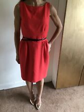 Coast Red Pencil Dress, Belted Open Back Size 10