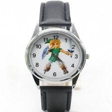 The Legend Of Zelda Link Sword Triforce Leather Analog Quartz Wrist Watch Black