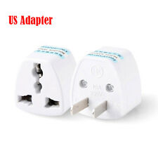 Flat Pin Universal Travel Plug Adapter Converter Socket AC Power UK AU EU To US