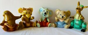 BLINKY BILL 5 Toy Rubber Puppet Figures Set 1990 Pizza Hut Collectable VINTAGE L
