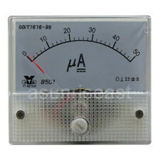 1 x DC50μA 50uA Analog Panel APM Microampere Current Meter Gauge 85C1 DC0-50uA