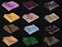 Floral Paisley Men Silk Handkerchief Pocket Square Hanky Wedding Party