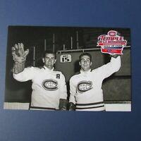 MAURICE &  HENRI RICHARD  Montreal Canadiens  postcard  Hall of Fame Loto Quebec