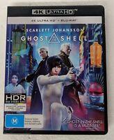 GHOST IN THE SHELL - 4K ULTRA HD + Blu-ray Region B oz seller DVD