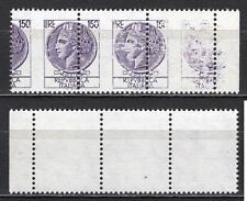 #2040 - Repubblica - 150 lire Siracusana, 1976 - Nuovi (** MNH) / Varietà