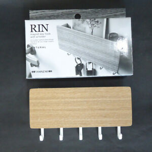Natural Wood Magnetic Key Hook with Holder Tray Rin
