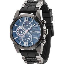 Watch Police Matchcord R1451259002 rubber black multifunction steel blue
