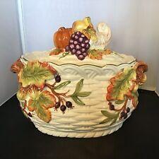 Cracker Barrel Soup Tureen Fall Thanksgiving Cornucopia, No Ladle. Great Cond.