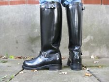 Mens Engineer Boot HEAVY LEATHER Western Combat Buckle Biker Boot Black UK 5-12