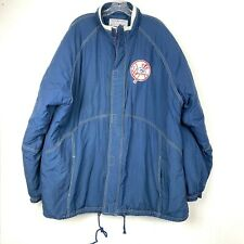 Vintage New York Yankees Starter Jacket Mens Size 2XL XXL Full Zip Blue Puffer
