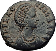 AELIA FLACILLA Theodosius I wife 383AD Authentic Ancient Roman Coin CROSS i63285