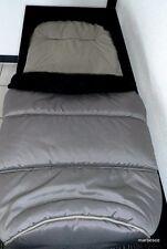 Teutonia Fußsack/ Sitzauflage in Topqualität, Neu OVP schwarz-grau optisch braun