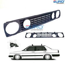 Euro Spec. Dual Quad Round 4Eye Badgeless Grille for VW Jetta Golf MK2 16V GL II