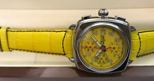 Trias Automatic Chronograph Valjoux Caliber 7750 Swiss Made Retro-Design Yellow