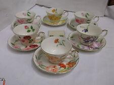 Yukiko Hanai Design Service de thé pour 6 personnes florales motif porcelaine
