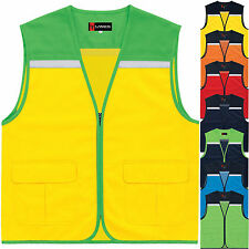 Multi Pockets Mesh Safety Vest Sleeveless Photographer Hunting Hi Vis VestsNo.23