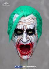 1/6 CUSTOM REHAIR REPAINT Joker hot toys figure head sculpt batman DX enterbay