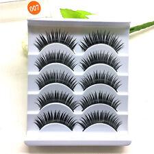 5Pairs Natural Long Black False Eyelashes Thick Eyelashes Extension Makeup Tools