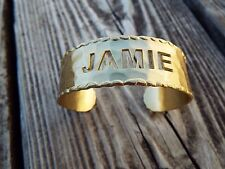 "New Rustic Cuff .75"" Metal Lisette Scalloped Cut Out ""Jamie"" Gold Bracelet RC"