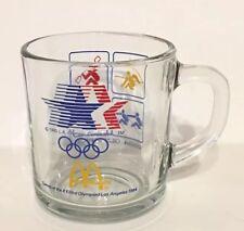 McDonalds 1984 XXIII Summer Olympics Glass Coffee Mug Cup