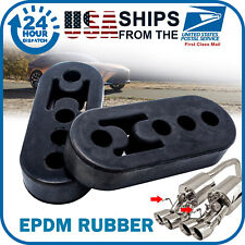 2x Car Rubber Exhaust Tail Pipe Mount Brackets Hanger Insulator 12mm 4 Holes