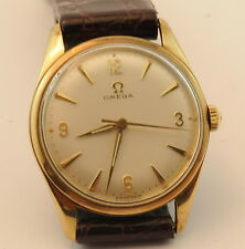 9ct Gold Case Omega Mens Watch - Caliber 600 Manual Wind Movement - Vintage 1960