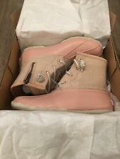 SPERRY Wool Embossed Saltwater Duck Boot Rose Dust US 6M Thinsulate NEW