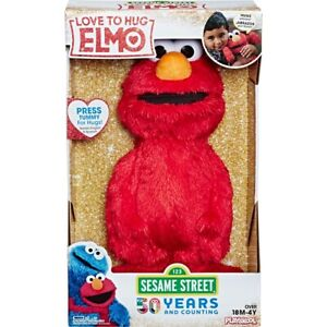 "NEW Hasbro Sesame Street Love to Hug Elmo (E4467) 14"" Plush Singing Toy For Kids"