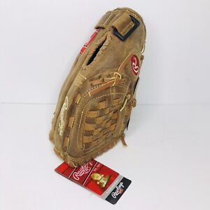"""NEW! Rawlings PP110BR Left Hand Throw Full Leather 11"""" Youth Baseball Glove NWT"""
