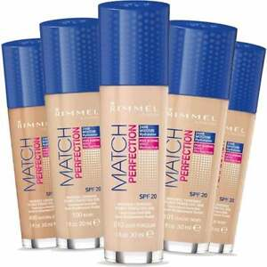 RIMMEL MATCH PERFECTION FOUNDATION, LIGHT COVERAGE SPF20 - CHOOSE YOUR SHADE