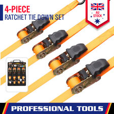 4 x Tie Down Strap Ratchet  25mm x 5m Cargo Trailer Roof Rack Motorcycle Packing