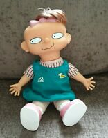 """Nickelodeon Rugrats Lil DeVille Lillian Soft Toy Hard Face Doll 12"""" Retro 1996"""