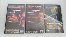 STAR TREK JOB LOT LOTE 3 X VHS COLECCIONISTA EDICION ESPAÑOLA