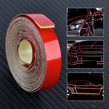 Red 5Mx 1cm Car Auto Body Reflective Self Adhesive Tape DIY Stripe Sticker Decal