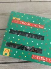 Vintage Christmas Lights 30 Battery Operated  Pifco  with Box (Rare)