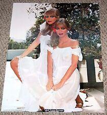 CYB & TRICIA BARNETT Twins Poster 1979 Boobs Sexy Girl Hot Babe Workshop Garage