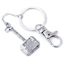 Marvel The Avengers Thor Thor's Hammer Mjolnir Pewter Metal Keyring Key Chain OF